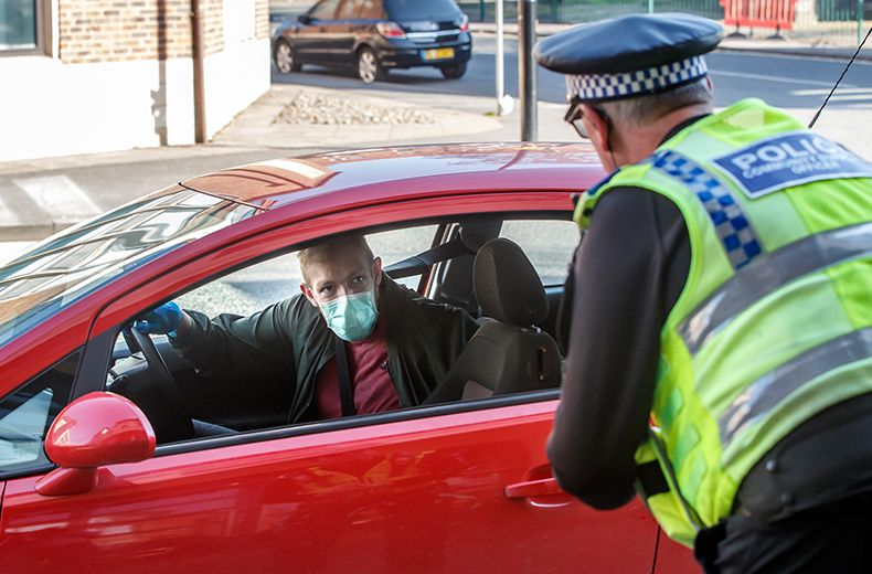 Driver stopped with wife in the boot !